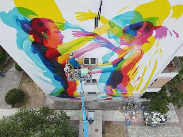 Η πρώτη τοιχογραφία του φεστιβάλ City Call στην πόλη του Βόλου