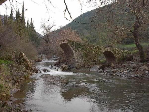 Δίτοξο γεφύρι στο Πλατανόρεμα(Καναλου)