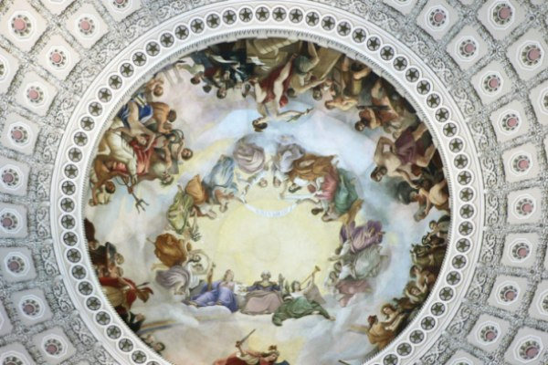 Ο Έλληνας που ζωγράφισε την οροφή στο Καπιτώλιο και έγινε γνωστός ως ο Μιχαήλ Άγγελος της Αμερικής.
